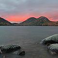 Dusk At Jordan Pond And The Bubbles by Juergen Roth