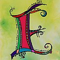 'e' Monogram by Joyce Auteri