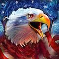 Eagle Red White Blue 2 by Carol Cavalaris