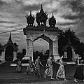 Early Morning Monks by David Longstreath