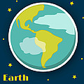 Earth Print by Christy Beckwith