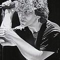 Eddie Vedder Black And White by Joshua Morton