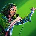 Eddie Vedder Of Pearl Jam by Paul Meijering