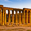 Egyptian Temple Ruins In Luxor by Mark E Tisdale