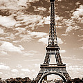 Eiffel Tower In Sepia by Elena Elisseeva