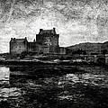 Eilean Donan castle in Scotland BW Print by RicardMN Photography