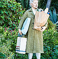 Elderly Shopper Statue Key West Print by Ian Monk