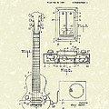 Electric Guitar 1937 Patent Art by Prior Art Design