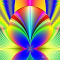 Electric Rainbow Orb Fractal by Rose Santuci-Sofranko