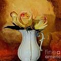 Elegant Triple Roses by Marsha Heiken