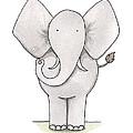 Elephant Nursery Art by Christy Beckwith