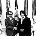 Elvis Presley And President Nixon by Retro Images Archive