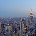 Empire State Building In Midtown Manhattan by Juergen Roth