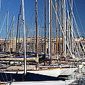 Empty Masts In Vieux Port by John Rizzuto