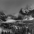 Enchanted Valley In Black And White by Bill Gallagher