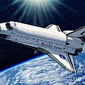 Endeavour In Space by Stu Shepherd