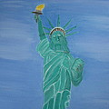 Enterprise On Statue Of Liberty by Vandna Mehta