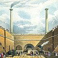 Entrance Of The Railway At Edge Hill by Thomas Talbot Bury