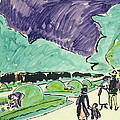 Entrance to a large garden in Dresden Print by Ernst Ludwig Kirchner