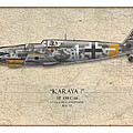Erich Hartmann Messerschmitt Bf-109 - Map Background by Craig Tinder