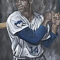 Ernie Banks by David Courson