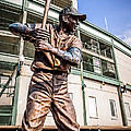 Ernie Banks Statue at Wrigley Field  Poster by Paul Velgos