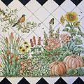 Espinosa's Flower Garden Tile Mural by Julia Sweda