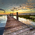 Evening Dock by Debra and Dave Vanderlaan