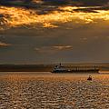 Evening Mariners Puget Sound Washington by Jennie Marie Schell