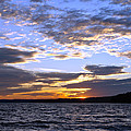 Evening Sky Over Lake by Olivier Le Queinec