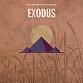 Exodus Books Of The Bible Series Old Testament Minimal Poster Art Number 2 by Design Turnpike