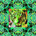 Eyes of The Bengal Tiger Abstract Window 20130205m180 Print by Wingsdomain Art and Photography