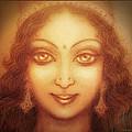 Face Of The Goddess/ Durga Face by Ananda Vdovic