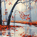 Fall River Painting by Graham Gercken
