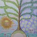 Family Tree Chart Sun Moon And Stars by Alix Mordant