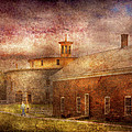 Farm - Barn - Shaker Barn  by Mike Savad