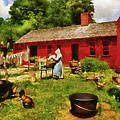 Farm - Laundry - Old School Laundry by Mike Savad