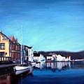 Farsund Dock Scene I by Janet King