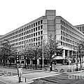 Fbi Building Front View by Olivier Le Queinec