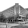FBI Building Front View Print by Olivier Le Queinec
