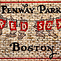 Fenway Park Boston Redsox Sign by Bill Cannon