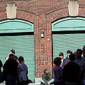 Fenway Park - Fans And Locked Gate by Frank Romeo