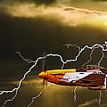 ferocious frankie in a storm Print by Meirion Matthias