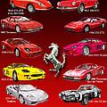 Ferrari Poster Art by Jack Pumphrey