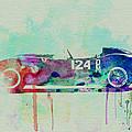 Ferrari Testa Rossa Watercolor 2 Print by Naxart Studio