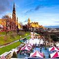 Festive Princes Street Gardens - Edinburgh by Mark E Tisdale