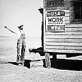 Field Office Of The Wpa Government Agency by American Photographer