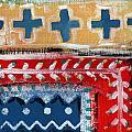 Fiesta 3- Colorful Pattern Painting by Linda Woods