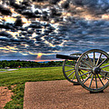 Fire Clouds Over A Gettysburg Cannon by Andres Leon