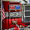 Fireman - Fire Engine Print by Paul Ward